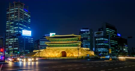seoul : Namdaemun Gate in Seoul, South Korea Stock Footage