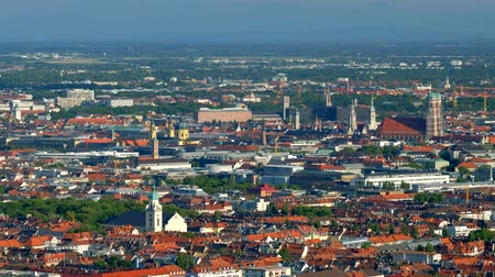 münchen : Aerial view of Munich. Munich, Bavaria, Germany Stock mozgókép