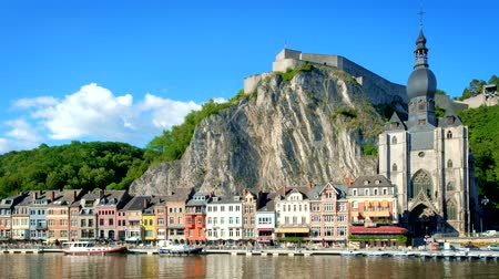ベルギーの : View of Dinant town, Belgium