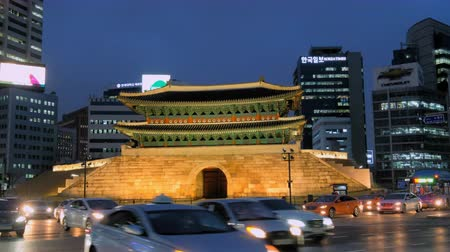 seoul : Namdaemun Gate in Seoul at night, South Korea
