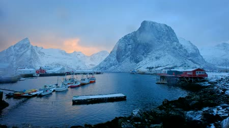 arktický : Hamnoy fishing village on Lofoten Islands, Norway