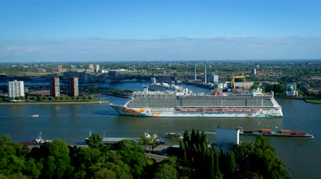 View of Rotterdam city Stock Footage