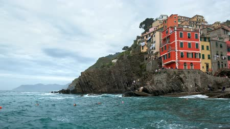 travel destinations : Riomaggiore village, Cinque Terre, Liguria, Italy