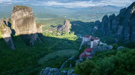 kalambaka : Timelapse of Meteora monasteries in Greece