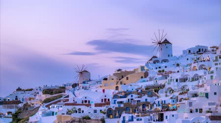 Санторини : Timelapse of famous greek tourist destination Oia, Greece