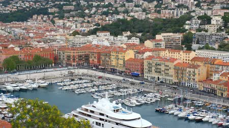 cote : View of Old Port of Nice with yachts, France