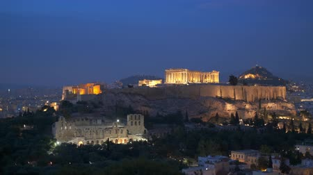 yunan : Iconic Parthenon Temple at the Acropolis of Athens, Greece