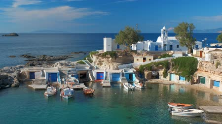 aegean sea : Mandrakia village in Milos island, Greece