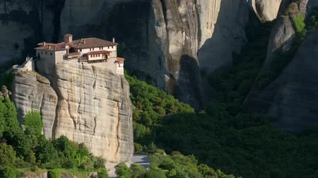 camera panning : Meteora monastery in Greece