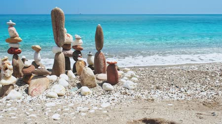 seixo : Concept of balance and harmony. - stone stacks on the beach