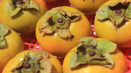 persimmons : The persimmons in the basket