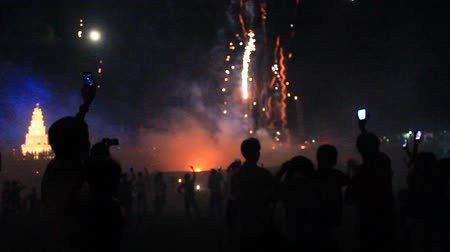 arife : fireworks in a traditional festival, Vietnam
