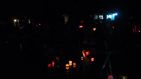 yeepeng : HAI DUONG, VIETNAM, SEPTEMBER, 11: people take candles in traditional festival on September, 11, 2014 in Hai Duong, Vietnam