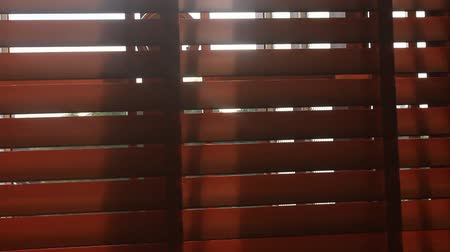 persiana : Sunlight through blinds Stock Footage