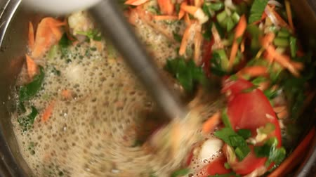 thali : Processing of spices for meals Stock Footage