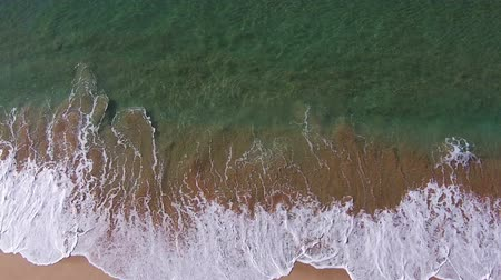 shoreline : Waves Crashing on Beach, aerial view