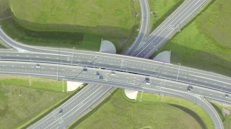 auto estrada : Flight Above Highway Interchange, sunny day