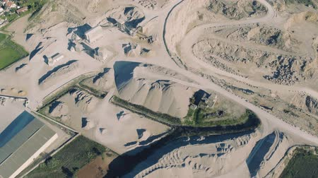 яма : Aerial View of Open Pit Sand Quarries, Portugal