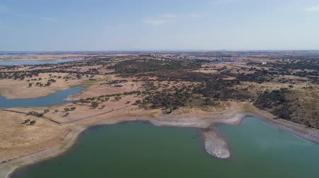Aerial View of Lake Albufeira do Alqueva, Portugal