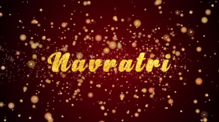 открытка : Navratri Greeting Card text with sparkling particles shiny background for Celebration,wishes,Events,Message,Holidays,Festival.