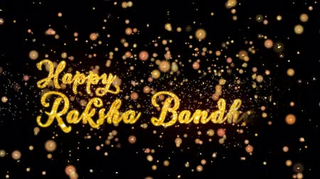 wristband : Happy Raksha Bandhan Abstract particles and fireworks greeting card text with shiny black background for festivals,events,holidays,party,celebration.
