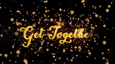 kraker : Get Together Abstract particles and glitter fireworks greeting card