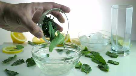 infusão : mojito recipe. addition mint to lime juice