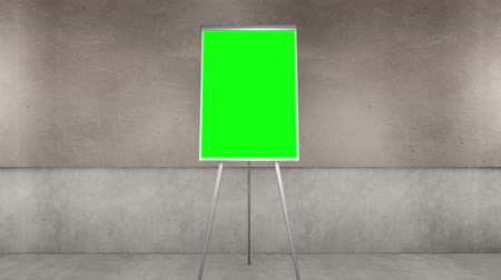 flip chart : Camera zoom is a flip chart with a chroma key