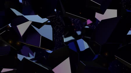 headstone : Dark purple spinning gems crystals particles diamonds shining edges seamless loop background Stock Footage