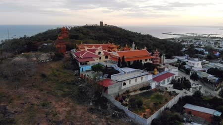 ba : Buu Son Buddhist Temple near the Poshanu or Po Sahu Inu Cham Tower in Phan Thiet city in Vietnam
