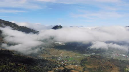 asya mutfağı : The raw pictures of scenery at Sapa mountain and village, North Vietnam Tourism destination. Stok Video