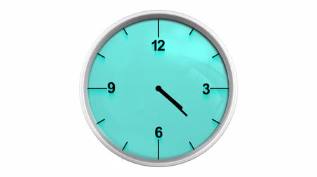 3D Animated Clock Looped Alpha Channel Included