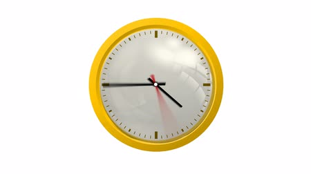 cronômetro : Animated Clock, twenty four hour, loopable. includes alpha channel, easy to use. Stock Footage