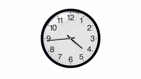 tárcsáz : Animated Clock, twenty four hour, loopable. includes alpha channel, easy to use. Stock mozgókép
