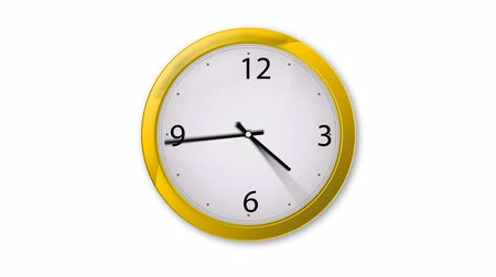 проходить : Animated Clock, twenty four hour, loopable. includes alpha channel, easy to use. Стоковые видеозаписи