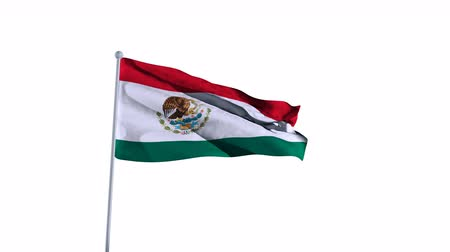 nigeria flag : Mexico Flag of Country. Alpha Channel Included. easy to use. Stock Footage