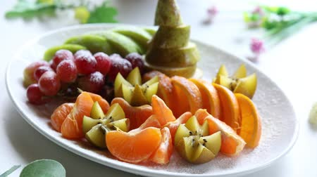 abundância : Platter of a assorted fresh fruit