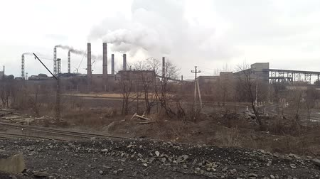 nikl : Smoke from the pipe. Mining and processing plant. Ukraine. Krivoy Rog