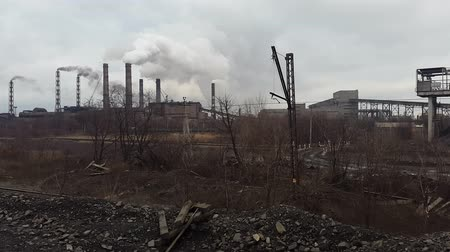 arctic tundra : Smoke from the pipe. Mining and processing plant. Ukraine. Krivoy Rog