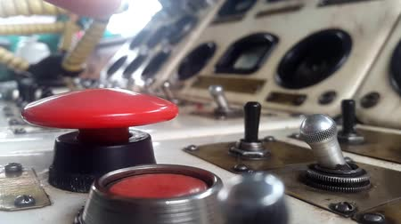 switching : Click on the big red button Stock Footage
