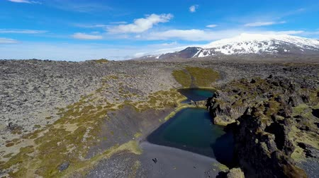 highland : Deep Lagoons and Lava Wonderland Stock Footage