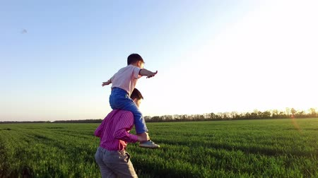 six worlds : Childrens happiness, two little brothers are having fun. Carefree childhood