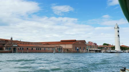 venezia : VENICE, ITALY - JULY 7, 2018: view from the sea to the Venetian islands. blue sea, sky, summer day. Burano Island, Murano Island, San Michele Island, San Giorgio Maggiore Island, San Servolo Island, St. George Island, Torcello Island