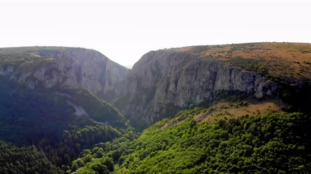 forro : aero, entrance of Grand Canyon, Turda Gorge, Cluj county, Transylvania, Carpathians, Romania. beautiful summer mountain landscape.lush, bright green forests of Transylvania