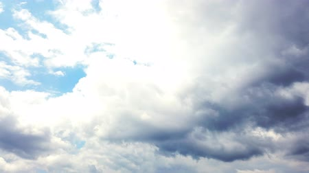levegős : timelapse, white, beautiful airy clouds are running against the blue sky.