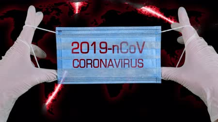 respiratory infection : Novel Coronavirus nCoV . virus concept. Medical mask of blue color for protection against flu and other diseases. chinese coronavirus outbreak. Concept, for an outbreak occurs