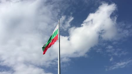 Flag of Bulgaria Waving on the Wind.