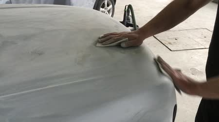 Grinding detail of car Stok Video