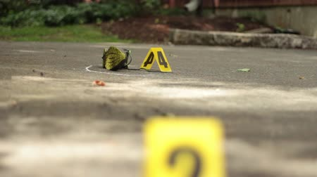 investigar : Empty Shoe at Crime Scene