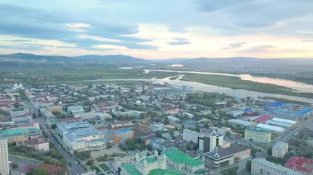 midtown manhattan : Aerial view of the city. aerial survey. Ulan-Ude city